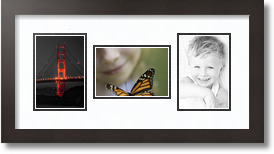16x24 Brown - Distressed Wood picture frame